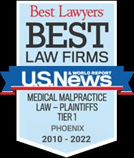 Best Medical Malpractice Law Firm 2010-2022